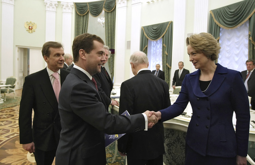 Russian President Medvedev meets with US delegation