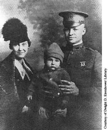 Icky with his parents